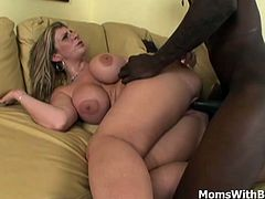 A preacher went to visit Sara Jay in her house. Luckily for him she is alone and hungers for cock. A preaching session quickly turns into a hardcore interracial cock sucking and mature pussy fucking.
