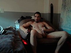 Jerking And Stroking My Uncut Cock