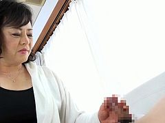 Asian Granny Yuka Sakuragi sucking and fucking