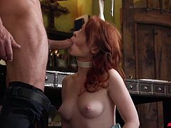 Horny stud fucks yummy chick Athena Rayne and makes her pussy stretched