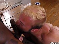 Lucky black guy  finally gets to fuck his friend's tight ass