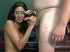 Nikki daniels is drilled naive during the time that this boy watches