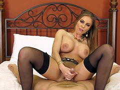 Masturbating with a toy is not enough to satisfy Britney Amber anymore