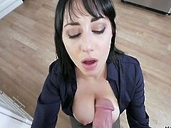 Mom helps with son's morning wood!