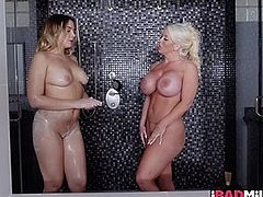 Blair Williams and Alura Jenson rubbing and fingering