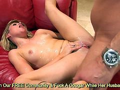 Horny Sindee Jennings squirt a lot while gets fucked by hard meat rod