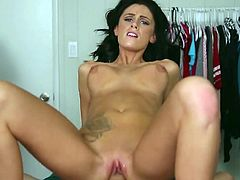 Alluring leggy babe Whitney Westgate puts on lingerie and gets her slit rammed