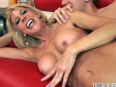 Blonde hottie Erica Lauren getting spooned and fucked vivaciously