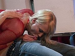 Curvy Carly Parker gets blasted from behind by a big dick