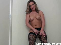 I love teasing your cock in my sexy fishnets JOI