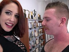 Awesome Lilyan Red gets talked into banging with two friends at once