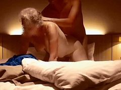 My wife fucked doggy style at the hotel - hidden cam