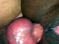 Dick in her Ass while she plays with her Cunt