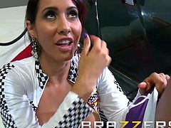 Big TITS in uniform - Isis Love Scott Nails - Car Show Ho - Brazzers