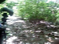 Mom flash my dick in the woods