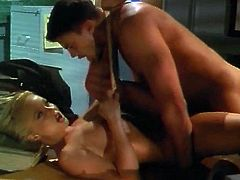 silvia saint is loaded with cock in the office