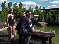 hot threesome under the scorching sun @ rocco's dirty girls #04