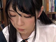 Jav Aoi Rena Gets Multiple Bukkake Face While Being Fucked