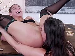 In some inexplicable way Abella Danger came under the influence of Dana DeArmond and her lover Juan Lucho. They tied her up with ropes and fucked her in a wild bdsm threesome. Join to know more! Hot stuff!