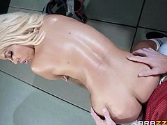 Nothing will stop this busty beauty if she needs sex. Today Bridgette found a seductive athlete with a big dick and intends to fuck him right in the locker room. Join and enjoy impetuous sex action!