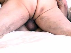 Close-up of grandparents hairy pussy play and fuck