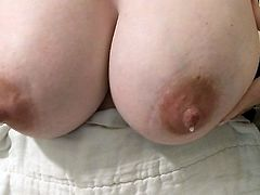 Wifes Milky Tittys Overflowing