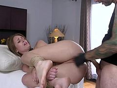 Tommy likes anal sex but his girlfriend Daisy Stone, doesn't like it. So he ties her hands with ropes, so that she cannot prevent him from doing what he wants and fucks her tight asshole, while she cries in pain... Join and have fun!