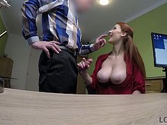 Well, how can you refuse a woman who has such huge tits? For me it is impossible. Every time I see such beautiful big titties like her, I can no longer think of anything, until I get a chance to place my dick between those amazing boobs...
