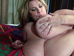 Mature mother with HUGE juicy natural tits