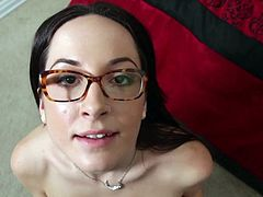 Cutie With Glasses Fucked In Anus