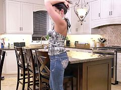 Sensual housewife Helena Price is finger fucking her whorish pussy
