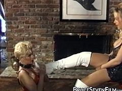 Blonde succubus unchained for severe lesbo insertion