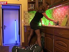 LETSDOEIT - Hot French Wife Lets the Plumbers Fill Her Pipes