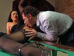 laura angel fucked on a pool table