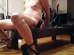 Predicament Self Bondage with CBT