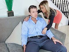 alexis fawx swallows his long dick almost completely