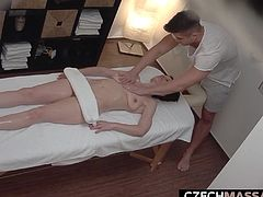 I wonder, does this happen in all Czech massage parlors? They do not know that the cameras are hidden everywhere, and therefore they do not hesitate to manifest their real desires. Almost every massage ends with fucking! Real footage!