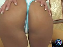 Hot Sarah James nailing that dildo into her butthole