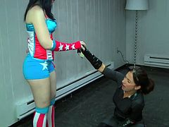 American Angel vs the Prowler Lesbian Fun