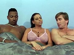 Amazing interracial threesome with big tits horny mom