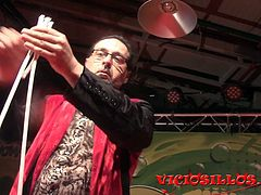 Sexy Erotic magician show on stage FEDA 2015