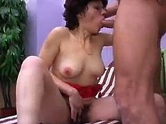 hairy lady gets big dick