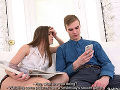 It's good to be a rich guy who doesn't need to worry about money and only needs to choose what girl to fuck next. This one got a nifty offer from his soccer buddy and came over to fuck his beautiful girlfriend. Oh, he fucked that bitch real good, made her cum hard and gave her a load of his special cock juice. But you know what the best part was, aside from that chick having a perfect body? Her bf stayed to watch it all from beginning to an end. Wow!