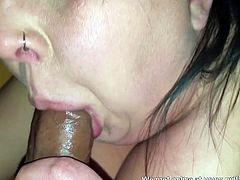 Cheating MILF met on Milfsexdating Net sucks cock and swallows cum