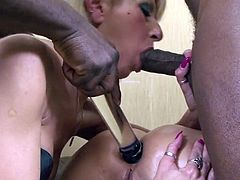 Enjoy today another episode of the series Anal Violation of 2 Mature Ladies Sluts with these two very horny sluts sucking and fucking two black dudes