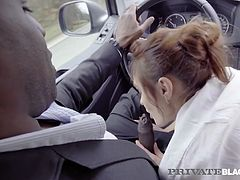 PrivateBlack - Hot Babe Dominica Phoenix Ass Banged In Taxi!