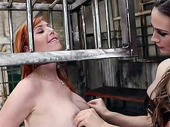 These slutty girlfriends decided to diversify their daily sex live and try bdsm. The busty redhead babe gets hard metal cage on her head and a huge glass dildo in her ass, and this is only the beginning, therefore I advise you to join and not to miss punishing anal sex, fisting, spanking, enemas & ass worship.