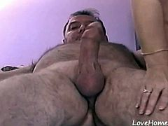 Mature wife still fucks hard with her hubby and they record it for the first time.