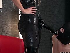Enjoy this kinky femdom hot porn video with naughty and gorgeous slut Aileen Taylor with a huge strap on . Watch in HD video today