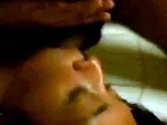 A pretty pinay and her boyfriend plays with a camera while in their rented apartment and is here captured stark naked and sucking her bfs average cock.